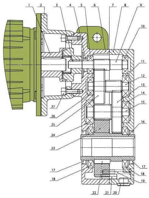 конструкция мотор-редуктора ТР